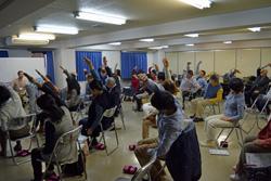 第2分科会では、いきいき百歳体操を体験した