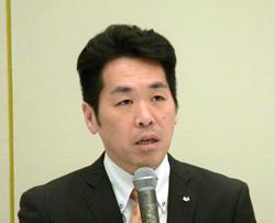 北摂市長会を代表してあいさつした倉田箕面市長